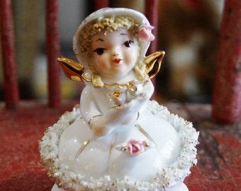Vintage Lefton June Bride Angel-Hand Painted #808B