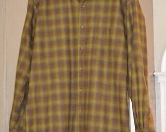 Vintage Pendleton Men's Dress Shirt, Large
