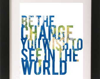 Be The Change Print | Digital Download