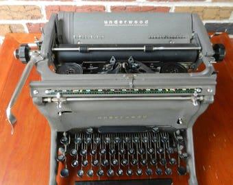 Vintage 1952 Underwood Typewriter, Working, Decor, Collectible, Prop