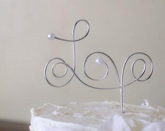 Love Cake Topper - Wire Wedding Cake Topper
