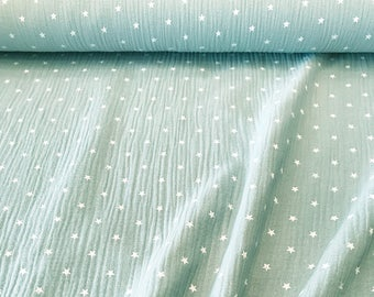 Mint muslin little stars