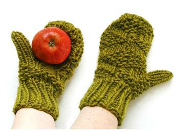 Knitted Mittens - Hand Knitted - Wool Mittens