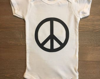 Peace Sign baby onesie Peace//Hippie//Earthy