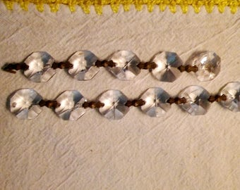 small vintage crystal chandelier beads