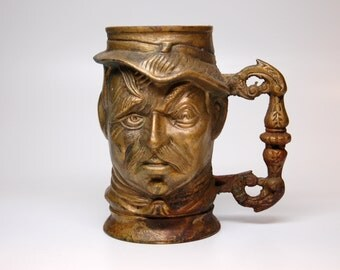 Highly Detailed Brass Mug of Soldier