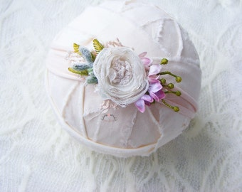 Newborn flower headband, Photography prop, Newborn tieback prop, Photo prop, Baby headband, Tiny headband, Newborn tieback prop