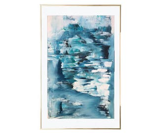 Abstract Large Blue Painting