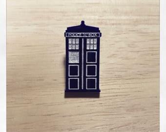 Doctor Who Inspired Tardis Pin Badge Brooch
