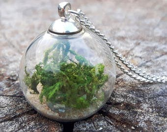 Moss Necklace, Terrarium Jewellery, Forest Necklace