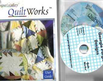 SALE** QUILTWORKS Designer's Gallery Studio Machine Embroidery Software & Georgie Porgie Quiltworks TUTORIAL