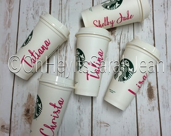 Bridal Party reusable Mug Decal, Reusable Gift for Brides, Maid of Honor, and Bridesmaids