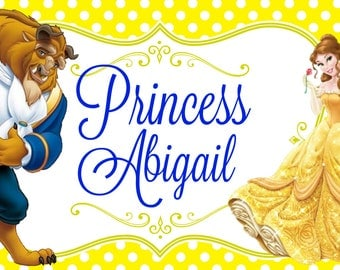 Stroller Tag - Custom, Personalized, Disney Vacation Tag for your stroller - Beauty & the Beast