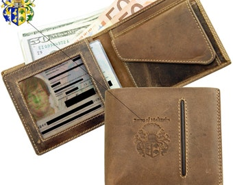 Men's wallet CROESUS of brown ECO leather