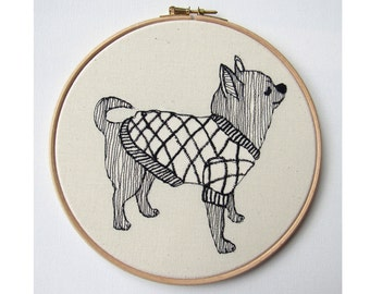 Chiwawa Embroidery Hoop