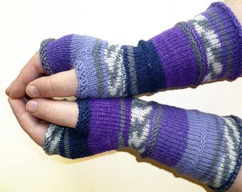 Knit Fingerless gloves | Knitted Fingerless Mittens | Long Arm Warmers | Boho Glove | Women Fingerless | Wrist Warmers | Gift