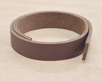 "Dark Brown OIL TAN Leather Strap 1/2"" x 12"" Strip 4-6 oz Hide MI-52688 (Sec. 7, 1)"