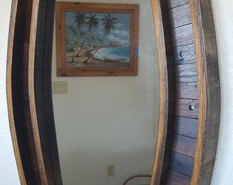 Wine barrel Mirror entry, hall, bathroom
