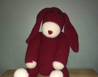 Burghandy stuffed Bunny