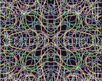 Mardi Gras small beads craft  vinyl sheet - HTV or Adhesive Vinyl -  green, purple and gold with black background mini bead pattern HTV192