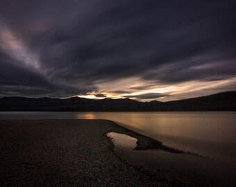 Glacier National Park Photography, Lake McDonald Photograph, Going to the Sun Road, Wall Decor, Fine Art Print, Sunset, Apgar, Long Exposure