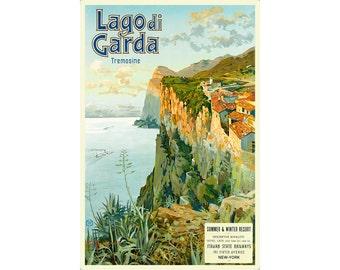 Lago di Garda Travel Poster Italian State Railways Elio Ximenes Art Repro Print 316