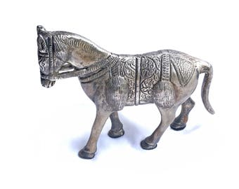 Etched Pewter Horse