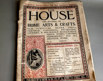 Antique ARTS & CRAFTS Journal Magazine HOUSE January 1902 - 115 years old!