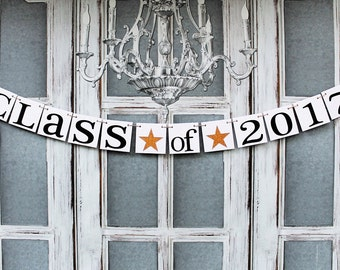 GRADUATION Party - CLASS OF 2017 Signs - Graduation Banners - Custom School Colors