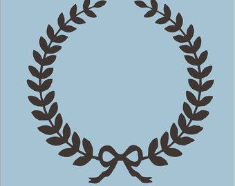 Wreath - Reusable STENCIL 012 - 6 size options- Letters A-Z available-  Create Custom Pillows or Custom Signs yourself!