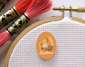 Magnetic Zodiac (Sagittarius) Needle Minder for Cross Stitch, Embroidery, & Needlecrafts (18mmx25mm with Strong Magnet)