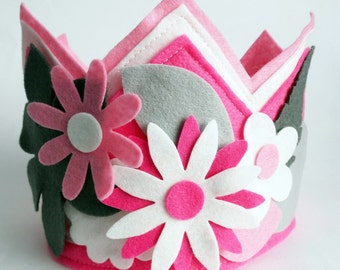 Felt Crown, Birthday Crown, Adjustable Size Ribbon Closure, Kids Birthday Gift, Imagination Crown, Boy Birthday Crown, Felt Party Hat,