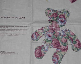 ROSE-COVERED TEDDYBEAR A V.I.P. Print by Cranston Print Works