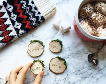 Christmas Place Settings / Holiday Table Decor / Place Cards / Personalised Decorations / Personalized Name Tags / Custom Names