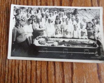 Post Mortem Old RPPC Funeral Casket Burial Photograph Vintage Photograph RPPC Post Card