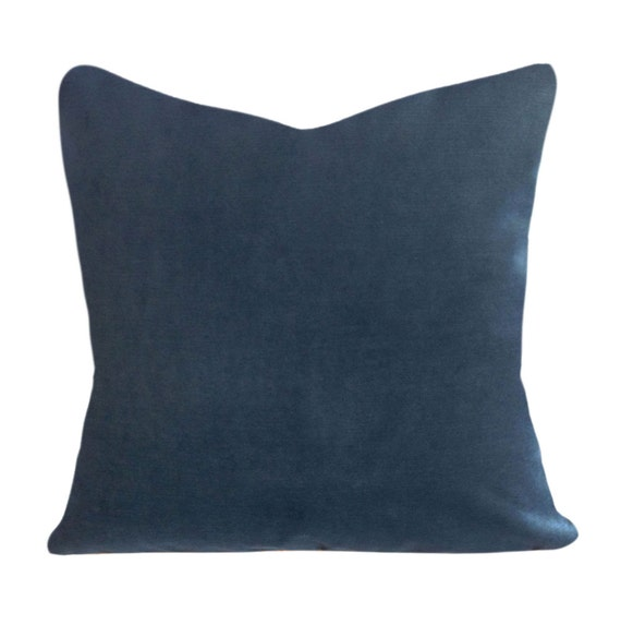 Peacock Blue Throw Pillow : Peacock Blue Velvet Throw Pillow Cover by PillowTimeGirls on Etsy