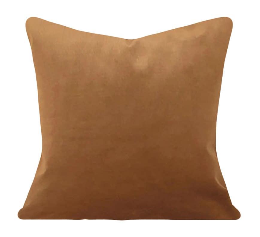 Velvet Decorative Pillow Covers : Camel Velvet Decorative Pillow Cover Throw Pillow Both