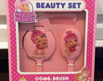 1984 Hugga Bunch Beauty Set NIOB by Hallmark, Hugga Bunch Comb&Brush Set, Hugga Bunch Vanity Set, Kids Vanity Sets, Children's Beauty Salon