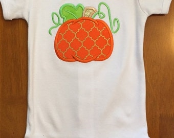 Orange and Gold Pumpkin Shirt or Baby Bodysuit