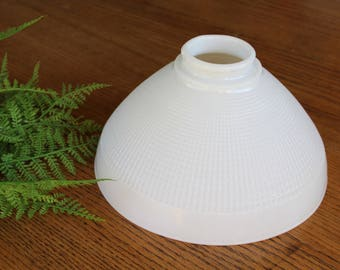 Vintage Milk Glass Lamp Shade / 10'' Millkglass Shade / Upcycled Pendant Light / Milk Glass Pendant Lamp Shade/Milkglass lampshade
