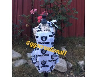 Oakland raiders romper summer outfit