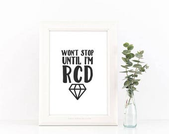 Won't Stop Until I'm RCD 8x10 Digital Download | Royal Crown Diamond Essential Oil Inspired
