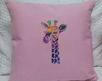 Giraffe Pillow Cover- Giraffe- Baby Giraffe- Throw Pillow Cover-Giraffe Design
