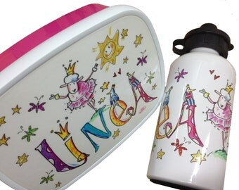Lunch box set kindergarten Princess, lunch box and drink bottle