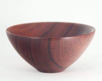 Bowl turned from Padauk