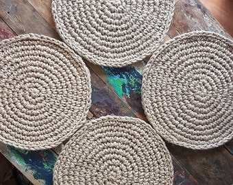 Jute Placemats Set of 6