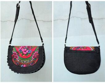Black Felt bag, ladies handbag, casual bag, black felt handbag, russian shawl, Felt Purse Handbag ,Tote Bag ,Felt Shopping Bag, Everyday Bag