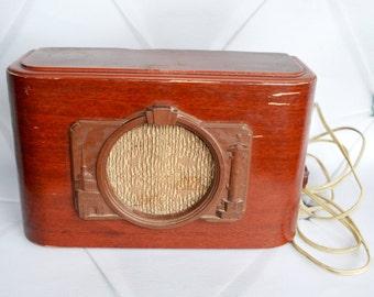 Vintage Soviet Radio Speaker, Collectibles Retro Radio, Baltika Vintage Radio, Vintage Art Deco Radio, Collectable Wooden Radio