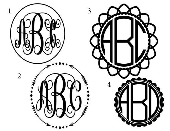 Monogram Decals Custom Car Art Personalized Gift Decals - Custom car art decals