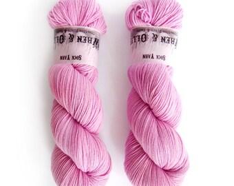 Sock Yarn Superwash Merino/Nylon 85/15 4ply Handdyed Yarn: COTTON CANDY